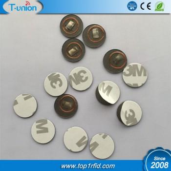 Dia18MM Transparent PVC ICODE SLI-X RFID Tag On Metal