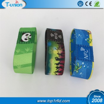 13.56MHZ Classic 1K S50 RFID Elastic Wristband