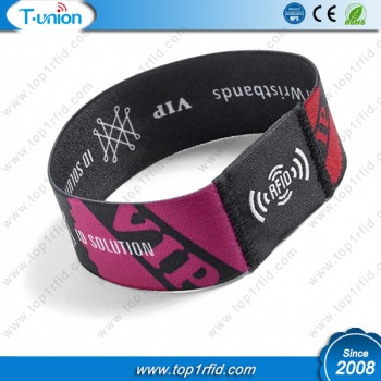 Type 2 Ntag213 NFC  Elastic  Wristband For The Band Concert