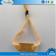13.56MHZ MF 1k F08 Compatible RFID Fabric Wristband For Payment