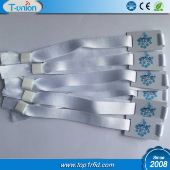 13.56MHZ  MF Ultralight C NFC Fabric Wristband For Hotel Access