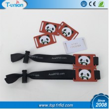ISO14443A  Ntag213 NFC Woven Wristband With Adjust Buckle