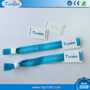 13.56MHZ Classic 1K S50 RFID Woven Wristband With UID Engraved