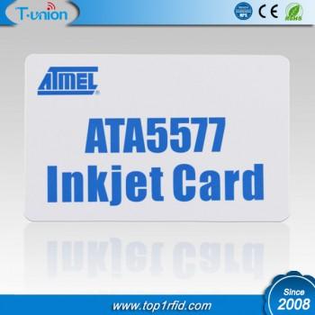 125KHZ R/W T5577 RFID Inkjet Cards