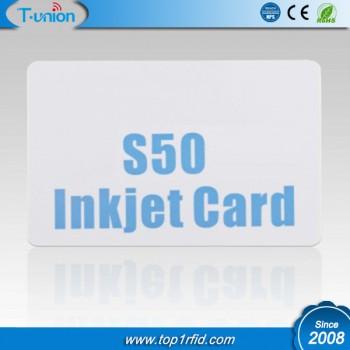 13.56MHZ Classic 1K S50 RFID Inkjet Cards