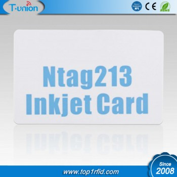 13.56MHZ Type 2 Ntag213 NFC Inkjet Printable Cards