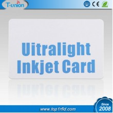 13.56MHZ 64byte Ultralight Inkjet Printable RFID Cards