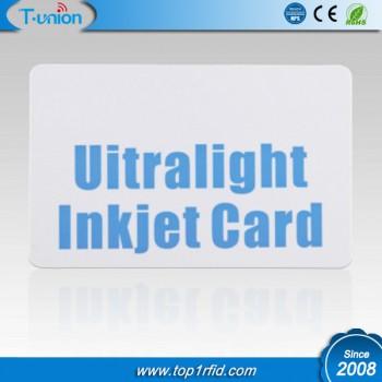 13.56MHZ 64byte Ultralight Inkjet Printable RFID Cards