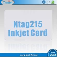 13.56MHZ Type 2 Ntag215 NFC Inkjet PVC Cards