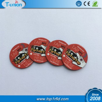 Dia20MM Ntag213 Printable NFC Coin Tag