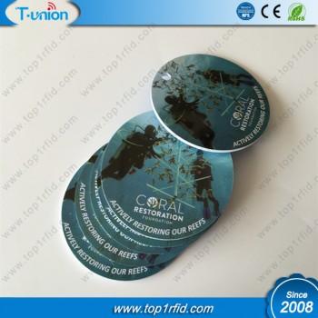 Dia40MM MF DESFire EV1 8K Printable RFID Disc Tag