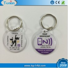 28x32MM   Ntag216 NFC Epoxy PET Tag with Metal Ring