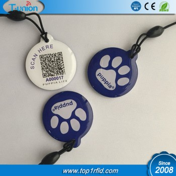 NFC Epoxy Hang Tag with Unique QRCode