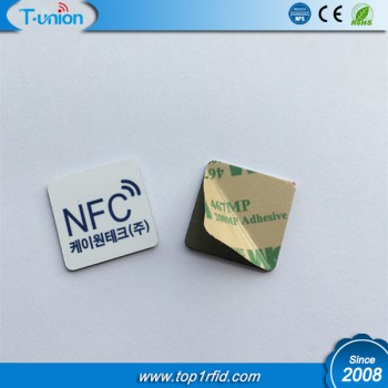 25x25MM Ntag215 NFC PVC Tag on Metal