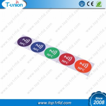 Dia29MM 13.56MHZ Type 2 Printable Glossy NTAG213 NFC Sticker