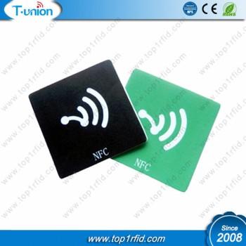 25x25MM Type 2 144BYTES NTAG213 NFC PVC Tag With Logo Printing