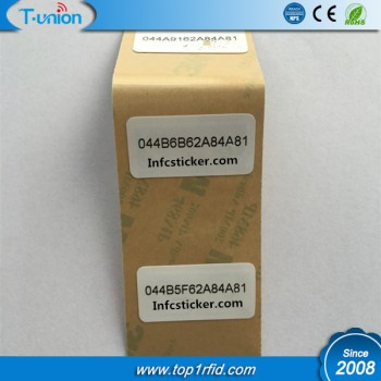 15x30MM Ntag213 PET NFC Label with UID Printing