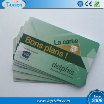 13.56MHZ FM11RF08 Printable RFID Loyalty Cards
