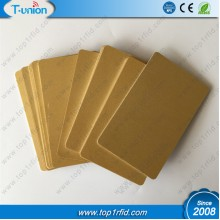 Metallic Gold Blank 125KHZ TK4100 Proximity Cards
