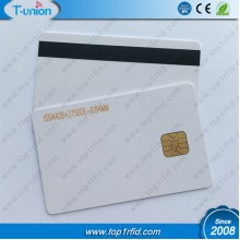 ISO7816 FM4428 PVC Contact Card With Hico Magnetic Stripe