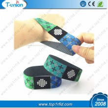 13.56mhz Compatible 1K RFID Elastic Wristband For Payment