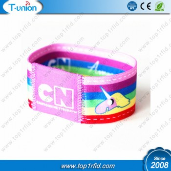 13.56MHZ ISO14443A Ntag213 NFC Elastic Wristband For Kids