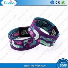 Customized Close Loop Polyester MF Ultralight EV1 NFC  Enabled Stretch Wristband