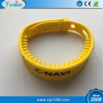 860-960MHZ Alien H3 UHF RFID Silicone Wristband ( Up to 2M by 8DB Reader )