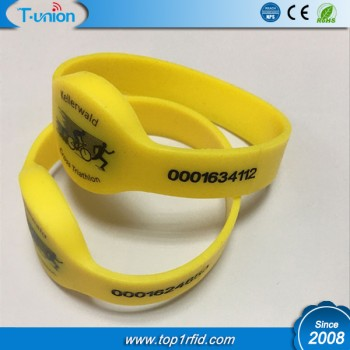 Dia60MM 125KHZ TK4100 RFID Wristband with UID Engraved