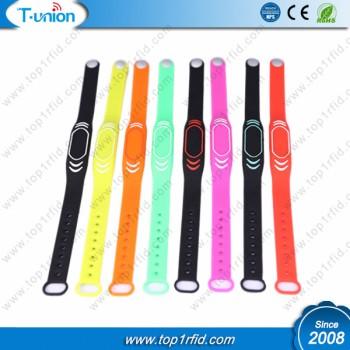 13.56MHZ MF 1K Fudan F08 RFID Silicone Wristband